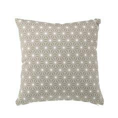 Coussin gris 40x40cm imprimé motifs géométriques - Koba - Les coussins décoratifs-Textiles et tapis-Salon et salle à manger-Par pièce - Décoration intérieur - Alinea