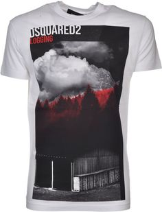 5c988dbf5 Dsquared2 Mountain Print T-Shirt White Men #dsquared2 #tshirt #men ...