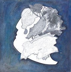 """andrea mattiello """"senza titolo"""" tecnica mista su carta cm 20,8x21; 2013"""