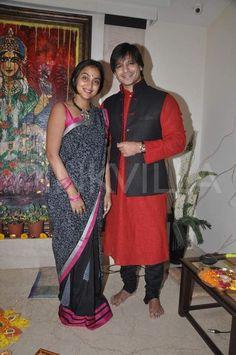 Vivek Oberoi celebrates diwali with wifey Priyanka