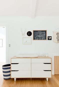 Simplicity is key for the Hah family. The whole home is peaceful and simple -- including Henry's room. Dresser is also IKEA.