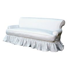 I pinned this Plymouth Sofa in White Denim Slip Cover from Miss Mustard Seed event at Joss and Main