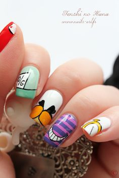 Alice in Wonderland inspired Nail Art by Tenshi no Hana