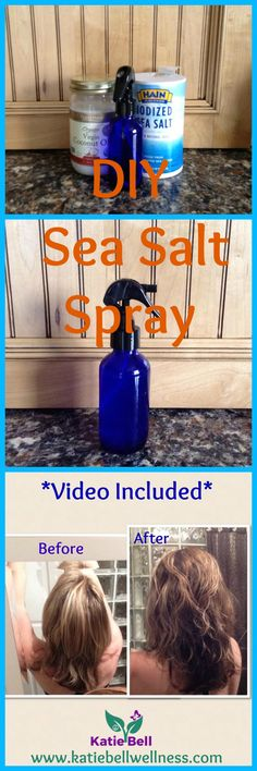 I have heard so many people rave about Sea Salt Spray.  The hair dressers saying you have to buy it, its great. Here is a Simple and Easy DIY