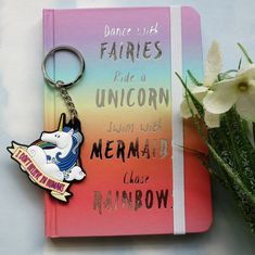 Love love this notebook the colour is divine the words are inspiring and it s handbag sized Guilt edged pages a band to keep it closed and a page Christmas Gift Sets, Fairy Dust, Unicorn, Believe, Notebook, Just For You, Rainbow, Fancy, Colour