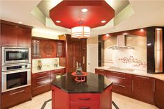 Dramatic Transitional Kitchen by Elina Katsioula-Beall on HomePortfolio