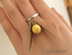 Harry Potter Golden Snitch Ringwith double sided by Gelivablegift, $2.99