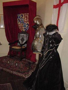 Inside Tutbury Castle, Mary Stuart, Queen of Scots, display.