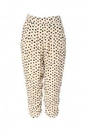 High Waist Dots Printed White Pants    $56.99    romwe.com