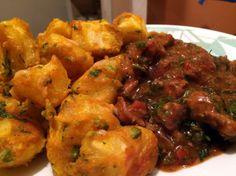 Viazi Karai with beef stew