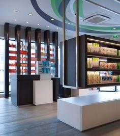 Tous droits réservés © Agence MAYELLE Shop Front Design, Store Design, Display Design, Display Ideas, White Interior Design, Shop Plans, Living Room Modern, Retail Design, Interior Lighting