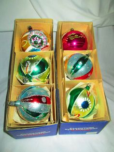 Vintage 1950's Christmas Ornaments Mercury by CarolsTrueVintage