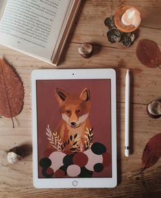 fox illustration Autumn Illustration, Minimalism, Artsy, Autumn Cozy, Fall, Instagram Posts, Painting, Nice, Autumn