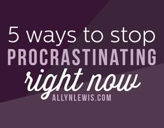 Stop procrastination in its tracks and use these 5 tips to take control of your task list and stay successful with completing projects.