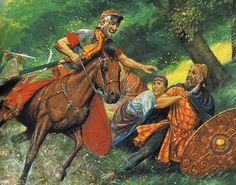 """""""Tiberius Claudius Maximus and Decebalus"""", Peter Connolly"""