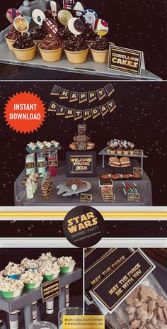 Star Wars Party - INSTANT DOWNLOAD - Birthday Party Printable Decorations via Etsy