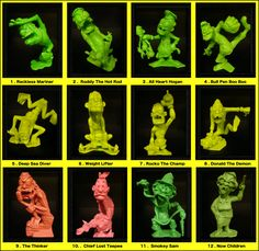 Marx Toys - Nutty Mad Figures. My Brother had these toys.( OMG!!!! I love these toys.) ( I had one, Drag Hag.)