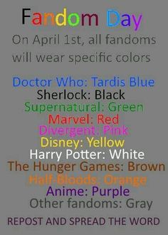 April 1st is fandom day