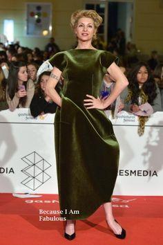 Fabulously Spotted: Najwa Nimri Wearing Emporio Armani - Malaga Film Festival 2014 Closing Ceremony - http://www.becauseiamfabulous.com/2014/03/najwa-nimri-wearing-emporio-armani-malaga-film-festival-2014-closing-ceremony/