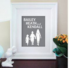 2013 Handmade Holiday Gift Guide | #Handmade #Gift Idea: Personalized Silhouette from Nella Designs
