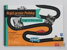 """""""Rajd przez Polskę"""" zeszyt do kolorowania w Sztuka dla dzieci Dziecięca twórczość zabawy plastyczne Pikinini-More than toys, zabawki ekologiczne, gotowanie z dziećmi, Pippi, Muminki, zabawki, ogrodnictwo, książki"""
