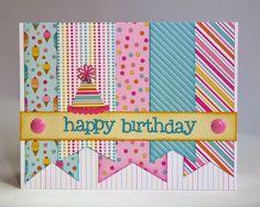 birthday pennant card - Google Search
