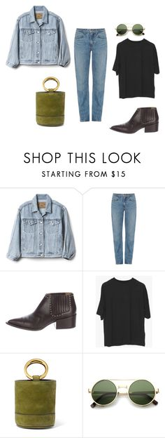 """""""double denim"""" by chungfan on Polyvore featuring Gap, Helmut Lang, Givenchy, Simon Miller and ZeroUV"""