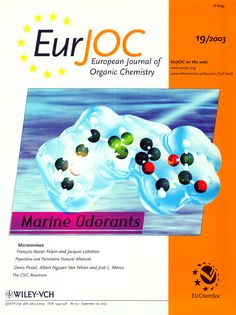 Philip Kraft, Walter Eichenberger, Conception, Characterization and Correlation of New Marine Odorants, Eur. Organic Chemistry, Cover Pics, Conception, Abstract, Character, Summary, Lettering