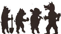 Three Pigs Shadow Puppets