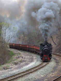 Narrow gauge steam at Banovici , Bosnia.