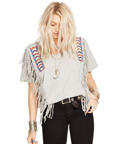 Denim & Supply Ralph Lauren Draped Beaded Fringe To