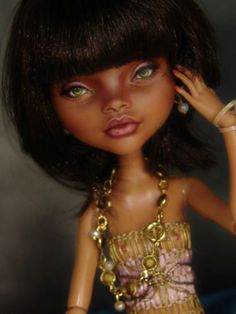 Monster High Doll OOAK Clawdeen Dressed Repaint by Laurie Leigh Beautifulfaces | eBay