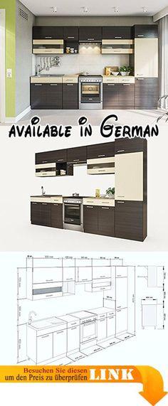 B071D6JWZD  Held Möbel 58416210 Mailand Küche Holzwerkstoff - küchenzeile hochglanz weiß