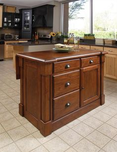 Aspen Kitchen Island in Rustic Cherry