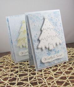 Kartki bożonarodzeniowe z choinkami