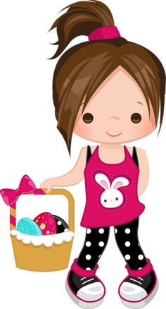 ༺♛ Christine Staniforth ♛༻ Girl Clipart, Cute Clipart, Girl Cartoon, Cute Cartoon, Little Doll, Little Girls, Cute Images, Cute Pictures, Clip Art