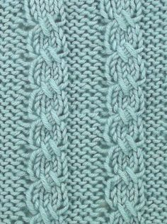 """Cross Stitch Cable is a """"mock"""" cable stitch since the crossing is accomplished with slip stitches rather than a cable needle.  You'll find it in the Bobbles and Slip Stitches category."""