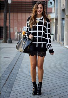 Slip dress with a shirt layered over it.