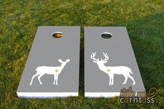 Wedding Cornhole Set  w/ Bags  - Deer Love. $195.00, via Etsy.