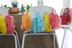 Silla decoradas con pompones