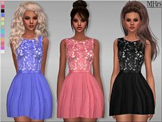 Sims 4 CC's - The Best: True Decadence Dress by Margeh-75