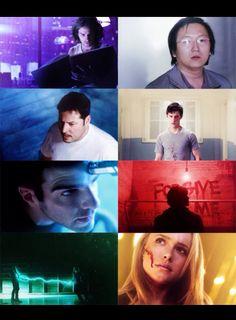 Heroes - Isaac, Hiro, Matt, Peter, Sylar, Mohinder, Elle, Claire