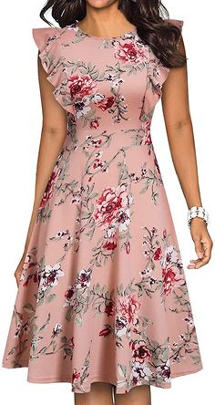 Dressy Dresses, Modest Dresses, Stylish Dresses, Dress Outfits, Girls Dresses, Woman Dresses, Party Dresses, Cute Floral Dresses, Short African Dresses