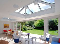 roof lantern and open doors
