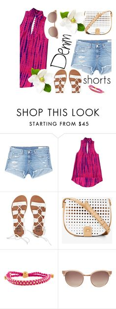 """Untitled #427"" by m-jelic ❤ liked on Polyvore featuring rag & bone/JEAN, Billabong, BCBGeneration, Monica Vinader, Linda Farrow Luxe, jeanshorts, denimshorts and cutoffs"