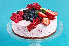 Somrig glasstårta Tart, Cheesecake, Birthday, Desserts, Recipes, Food, Tailgate Desserts, Birthdays, Deserts