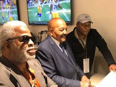 """Super 70s Sports on Twitter: """"Earl Campbell, Jim Brown, and Barry Sanders. Enjoy your day.… """" Earl Campbell, Houston Oilers, Jim Brown, Sports Images, Mens Sunglasses, Texans, Twitter, Men's Sunglasses"""