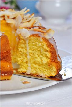 Coconut - buttermilk bundt cake - recipe
