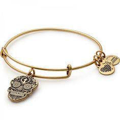 Calavera bangle in rose gold