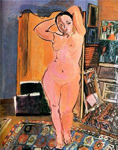 Naked, 1928-Raoul Dufy - by style - Naïve Art (Primitivism)